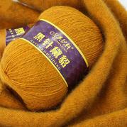 美織軒黑針黛貂 6+6手編中粗長毛貂絨線中細線