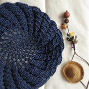 钩顶贝雷压春风 女士钩针亚麻贝雷帽子