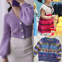 202112期周热门编织作品:手工编织春夏女士儿童服饰15款