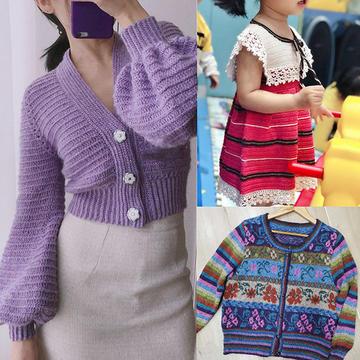 202112期周熱門編織作品:手工編織春夏女士兒童服飾15款