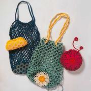 轻便实用手工编织镂空购物袋