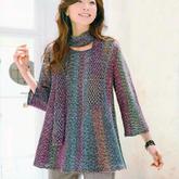 横织女士棒针A型裙式毛衣