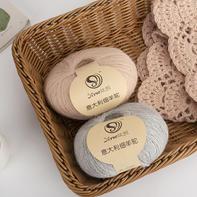 丝悦·意大利细羊驼 手工编织中细羊驼绒线围巾披肩细毛线