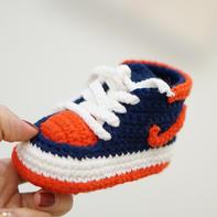 AJ宝宝鞋 毛线编织小红书明星同款钩针婴儿鞋编织视频