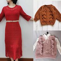 202113期周热门编织作品:春夏女士儿童编织毛衣12款