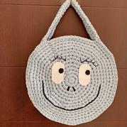 云趣灌芯棉布条线钩针可爱笑脸包包