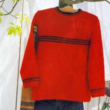 织法非常简单的简约休闲款男士毛衣(含M\L\LL三组数据)