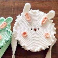 兔子包包(2-2)手工编织diy毛线钩针编织包视频教程