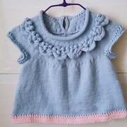 甜蜜豆 从领口往下织儿童棒针背心裙