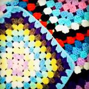 经典钩针祖母方格花样 消灭零线回字形盖毯编织视频教程