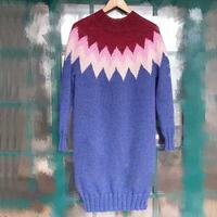 7针花样摩洛哥之爱 粗针织女士棒针长袍裙