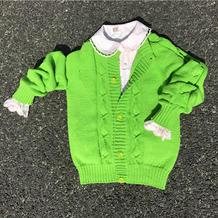 春色(3-1)从上往下织的儿童棒针开衫毛衣编织视频