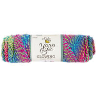 Yarn Bee Glowing 彩色段染腈纶围巾帽子中粗毛线