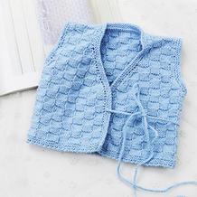 棋盘格新生儿系带和尚服式马甲 儿童棒针毛衣编织视频