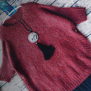 圆柏 从上往下织女士棒针圆摆套头毛衣