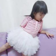粉果 Polo衫式儿童钩针翻领短袖衫