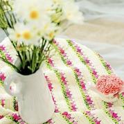 花香满径庭毯子 手工DIY毛线毯子编织视频教程