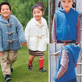 儿童棒针连帽开衫长袖毛衣与马甲(100cm 110cm 120cm)