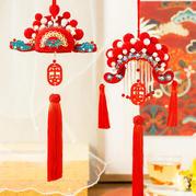 国风华冠挂饰之凤冠(2-1)手工DIY挂件编织编视频教程