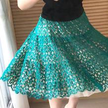 圆舞曲 女士钩针蕾丝半身大摆裙
