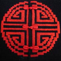 唐装风格毛衣针织旗袍的盘扣制作方法
