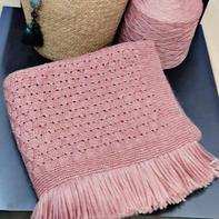 可披可盖简约实用棒针流苏小毯子 没有任何难度唯需耐心