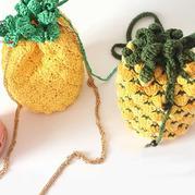 创意编织钩针菠萝包(2-1)水果包系列编织视频教程