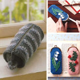 创意毛线编织笔袋工具收纳包编织图解2款
