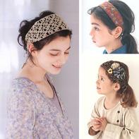 四季可搭各种风格的零线编织发带6款
