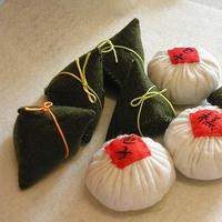 超级简单的生动形象不织布粽子与包子制作教程