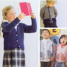 简约百搭儿童棒针长袖开衫3款 男女宝宝都适合