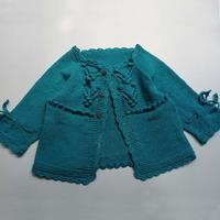 蓝浆果 看图仿衣儿童棒针育克插肩开衫毛衣