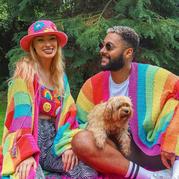 性感火辣可愛彩虹色鉤針服飾 英國小眾時尚服裝品牌FLUFFY