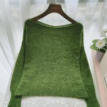 亮片森林 从领口往下织基础款女士棒针套头毛衣