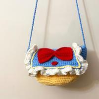 迪士尼白雪公主主题钩针可爱包包