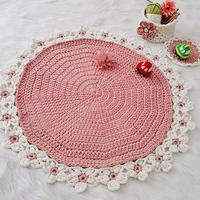 云趣钩针花朵地毯 超级漂亮的家居饰品