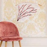创意美编不规则钩针花朵装饰墙挂