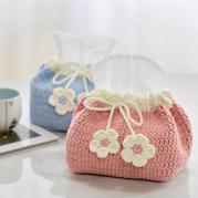 甜美可愛田園風鉤針花朵抽紙包編織視頻教程
