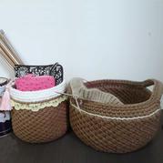 花紋別致的云趣鉤針收納筐編織筐