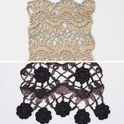 花型獨特的鉤針寬花邊2款 可做衣物中間或底邊裝飾