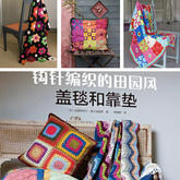 钩针编织的田园风盖毯和靠垫