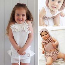 甜美可爱荷叶边儿童编织服饰 手工针织品牌童衣款式欣赏(2-1)