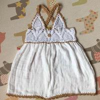 实物仙仙超级可爱儿童钩针菠萝拼布裙