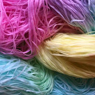 带子纱、灌芯棉的染色教程 DIY自染线图文教程