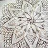 流行于70年代的針織圓桌布織法說明與記憶