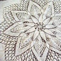 流行于70年代的针织圆桌布织法说明与记忆