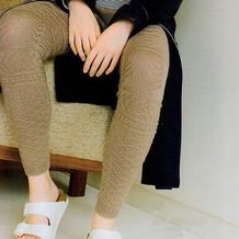 多款花样组合的女士棒针毛裤(含S M L XL四组数据)
