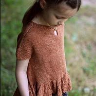 宝宝夏装 仿欧美儿童棒针连肩袖套头小衫
