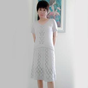 内搭外穿都适合的女士棒针真丝蕾丝套裙