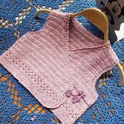 多线合股编织婴幼儿钩针和尚服马甲背心